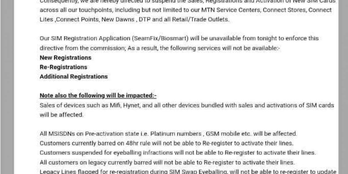 MTN Memo And Airtel Letter Confirming FG's Ban On SIM Card Sales